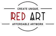 Red art - london canwas wall art & print