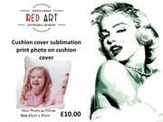 RED ART -  London Canvas Wall Art   Red Art  Camden Town